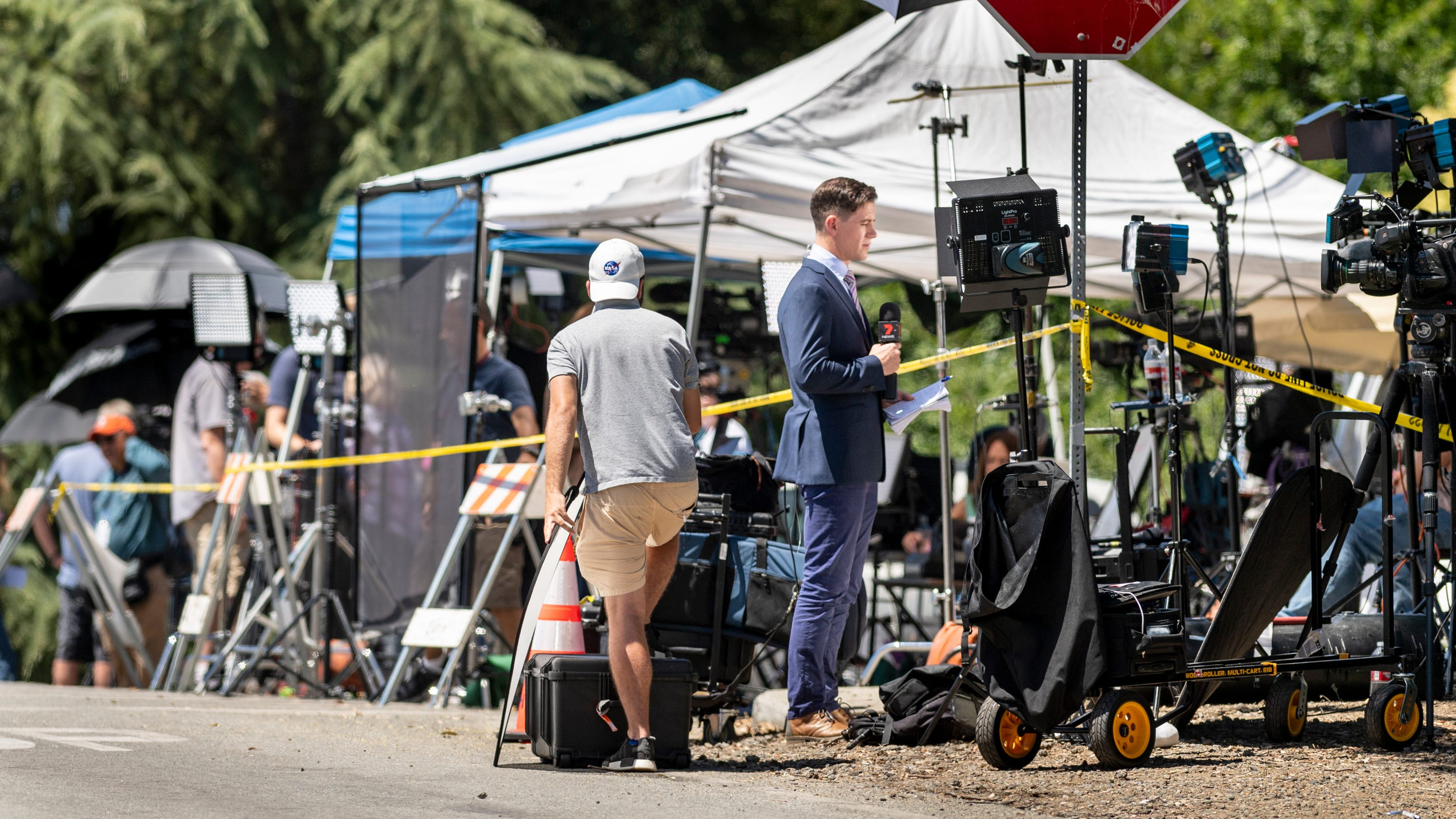 Media descent on Gilroy after festival shooting leaves some overwhelmed