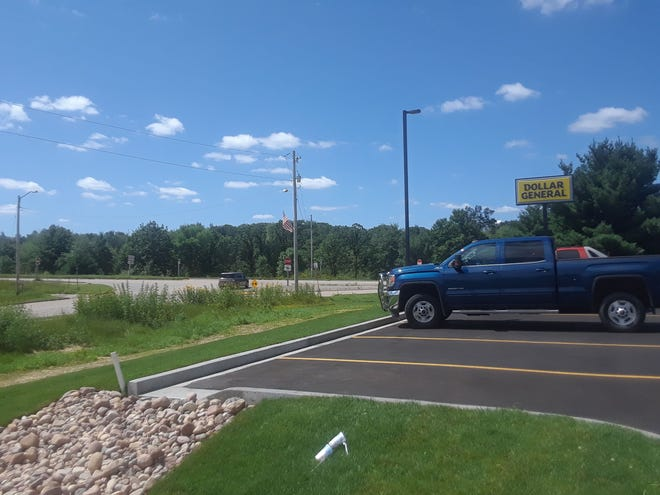 A new Dollar General store is the only business in sight just off of State 29 in Hatley.
