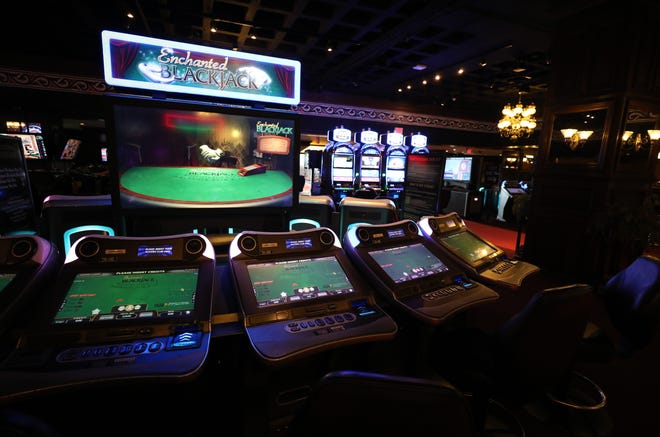 Video Blackjack tables are pictured at Empire City Casino by MGM Resorts in Yonkers, July 31, 2019.