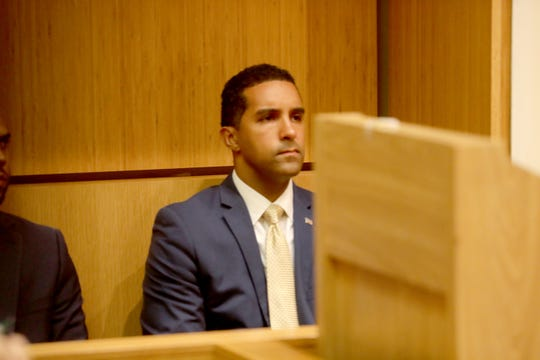 Richard Thomas listens to State Supreme Court Justice Lawrence Ecker deny his request for an injunction that would have prohibited Andre Wallace from continuing to act in the capacity of acting mayor in the city of Mount Vernon. Justice Ecker delivered his decision during in White Plains July 31, 2019.