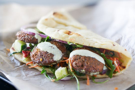 A protein-packed falafel sandwich and healthy chicken nuggets are perfect for school lunches.