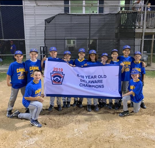 Canal Little League won the Delaware minor baseball state championship.