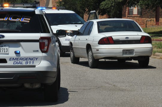 Wichita Falls police investigate a vehicle that was found at an apartment complex after it  was allegedly used in an Aggravated Assault, Tuesday afternoon.