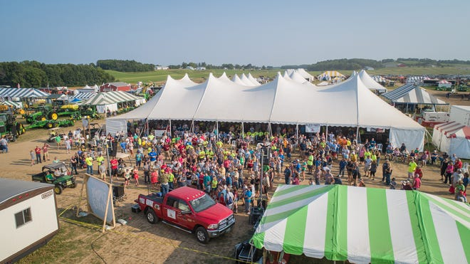 The Farm Technology Days block party drew hundreds of people on July 24 during extended show hours.