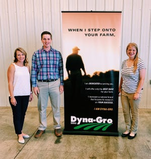 FFA members Emily Matzke (from left) Samuel Peetz and Rachel Damm represented Wisconsin during the 2019 New Century Farmer conference in Indianapolis, Ind., earlier this summer.