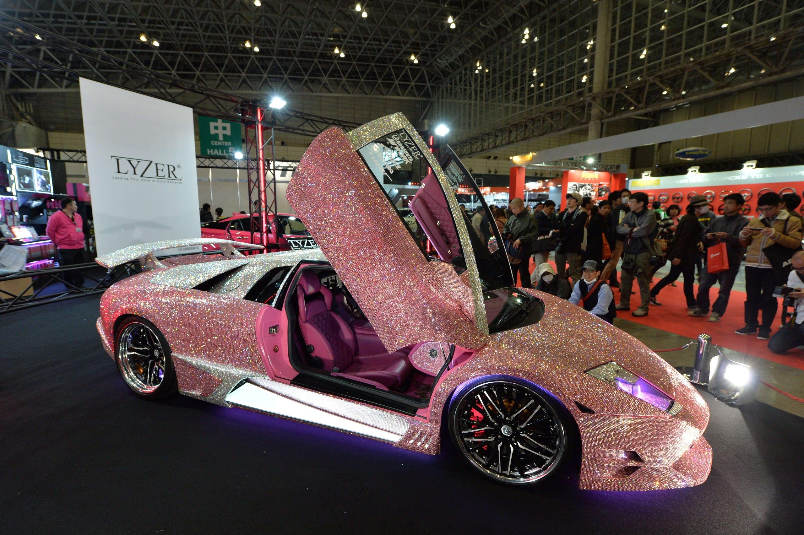 Lamborghini Murcielago finished with pink Swarovski crystals