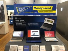 Back to school display at a Best Buy