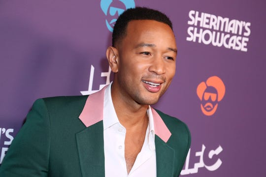 "John Legend at the premiere of ""Sherman's Showcase"" at the Peppermint Club on July 30, 2019 in Los Angeles."