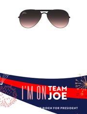 Former Vice President Joe Biden's Snapchat filter.