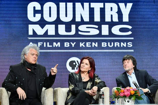 """Country music artists Marty Stuart and Rosanne Cash join documentary filmmaker Ken Burns to discuss """"Country Music A Film By Ken Burns,"""" which aired on PBS."""