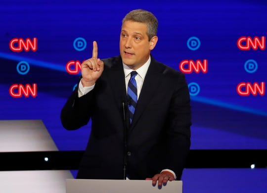 Rep. Tim Ryan, D-Ohio, speaks during the first of two Democratic presidential primary debates hosted by CNN Tuesday, July 30, 2019.