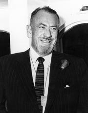 "John Steinbeck, pictured here, won the 1962 Nobel prize in literature for his novel ""The Grapes of Wrath."""