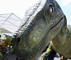 """The"""" Jurassic World"""" dinosaurs are coming to arenas this fall in a new traveling show."""