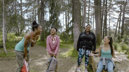 "Gabrielle Dennis, Quinta Brunson, Ashley Nicole Black and Robin Thede in ""A Black Lady Sketch Show."""