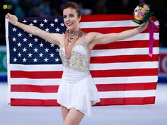 Ashley Wagner is shown in 2016 after winning the silver medal at the World Championships.