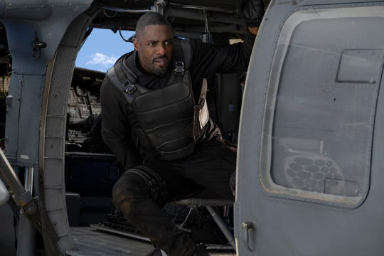 "Idris Elba stars as superhuman bad guy Brixton Lore in ""Hobbs & Shaw."""