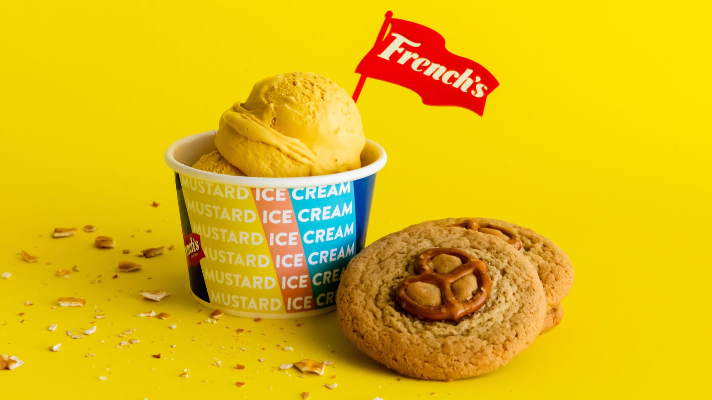 Mustard ice cream: French