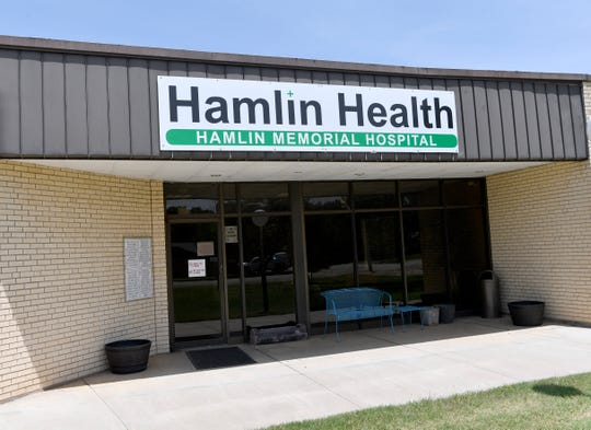 The entrance to Hamlin Memorial Hospital was locked Thursday. The Jones County hospital was closed at midnight.