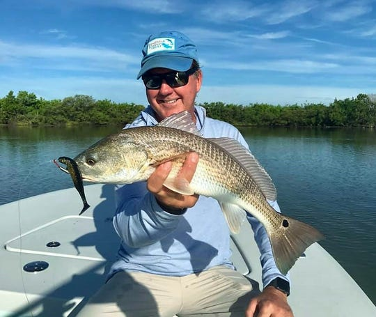 Jim Lytle caught and released several nice redfish while fishing the Mosquito Lagoon with artificial lures and Capt. Jon Lulay of Mosquito Lagoon Redfish Charters in Titusville.