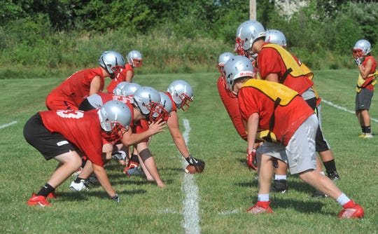 Buckeye Central worked on different formations and plays in its first practice of the season.