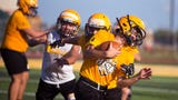John Paul II Centurions start their first week of football practices