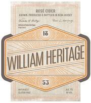 A label for William Heritage Rose Cider.
