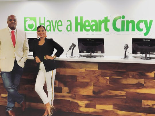 Have A Heart Cincy General Manager, Darius Bobo, left, and outreach coordinator, Crystal Smith