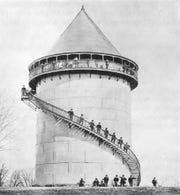 A photo in an Ohio EPA report shows Norwood's drinking water tank sometime after it was relatively new. The tank was built in 1897. A 2014 Dixon Engineering report given to Norwood found holes and corrosion on the roof so bad that a remotely operated vehicle could not be inserted to review the inside.