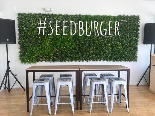 Inside Seed Burger.