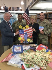 Local students recently participated in an effort to support American soldiers stationed around the world through a letter writing campaign organized by legislators Nancy Pinkin and Robert Karabinchak. Children in schools throughout Middlesex County were asked to write letters to troops abroad to educate on the importance of America's service members.