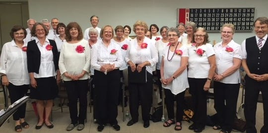 The Silver Belles and Beaus senior singing group.
