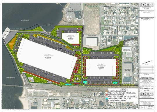A rendering of the Elm Street Logistics Center in Perth Amboy