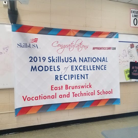 The SkillsUSA chapter on the East Brunswick Campus of the Middlesex County Vocational and Technical Schools has been named a National Model of Excellence.