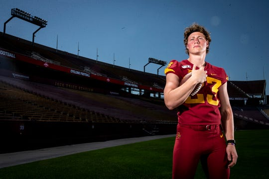 Sophomore linebacker Mike Rose poses for a photo at Iowa State football's media day on Thursday, Aug. 1, 2019 in Ames.