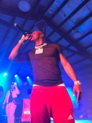 Charlotte rapper DaBaby performs at Val Air Ballroom in West Des Moines on July 31, 2019.