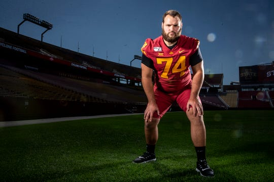 Redshirt senior Bryce Meeker is one of the biggest reasons for Iowa State's offensive line turnaround this season.