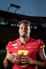 Senior defensive end JaQuan Bailey poses for a photo at Iowa State football's media day on Thursday, Aug. 1, 2019 in Ames.
