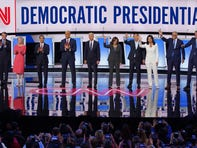 Fireworks, attacks on Biden and Trump, lack of consensus on issues dominate night of Democratic debate