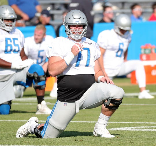 Frank Ragnow was set to be the Lions' starting center this season.