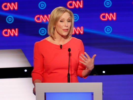 Sen. Kirsten Gillibrand, D-N.Y., speaks during the debate.