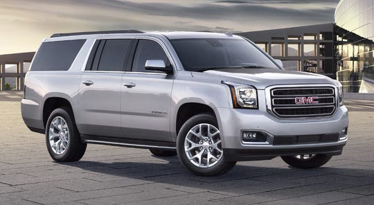 The 2019 Yukon full-size SUV comes with three rows of seating and is available in either 2WD or 4WD configurations.