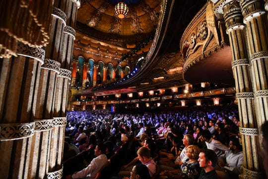 The historic Fox Theatre in Detroit hosts night two of the Democratic presidential debate, Wednesday.