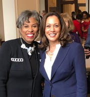 U.S. Rep. Brenda Lawrence of Michigan and Sen. Kamala Harris of California