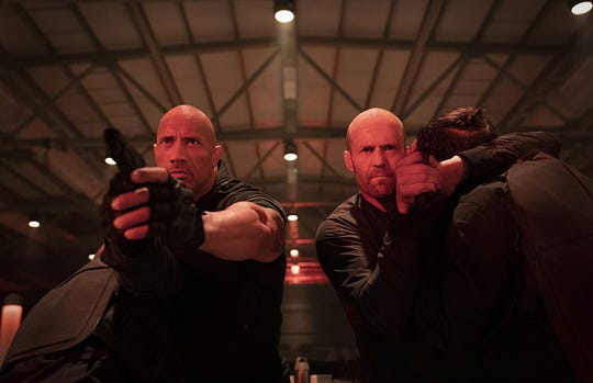 "Jason Statham and Dwayne Johnson in ""Fast & Furious Presents: Hobbs & Shaw."""