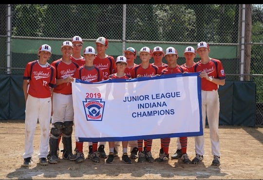 Highland 13-14 captured the Little League Junior state championship and advanced to the Great Lakes Regional in Fort Wayne.