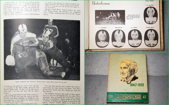 """Led by """"Soup"""" Campbell and """"Smokey"""" Turner, the 1940s brought conference titles for the Fort Myers High School football teams."""