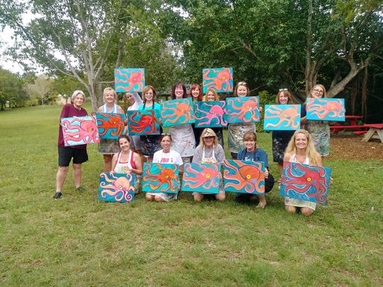 Vino's Picasso will bring painting and sipping again to the Rotary Park Environmental Center on Aug. 10.
