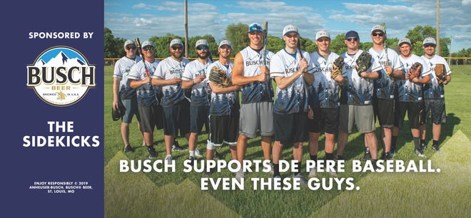 Coming to a billboard near you: the De Pere softball team sponsored by Sidekicks Bar & Grill, one of 10 national winners of a Busch sponsorship for the season. Members are, from left, Ben Vanden Avond, Brett Bero, Kory Guns, Adam Enwiya, Andrew Rosenbaum, Ryan Gloe, Travis Mason, Chad Ljunggren, Joe Vanden Avond, Max McHugh, Ben Wallenberg and Jordan Miller. .