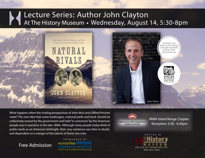 John Clayton is scheduled to speak at the History Museum in Great Falls Aug. 14.