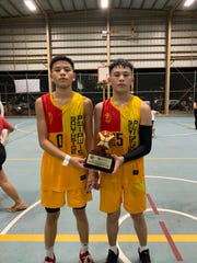 E.J. Cruz, left, and and Josiah Quintanilla were named the Community First Federal Credit Union's co-Most Outstanding Players for the 9th-10th grade division.